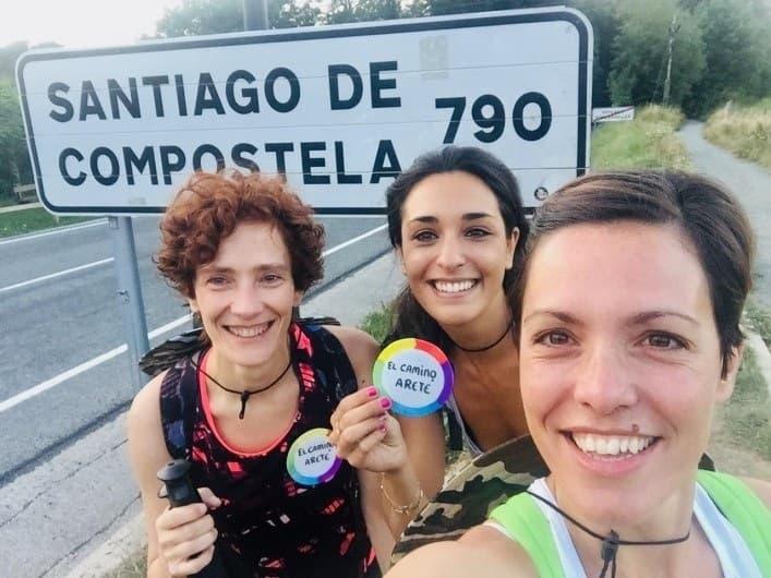 Foto equipo ARETÉ ACTIVA camino santiago